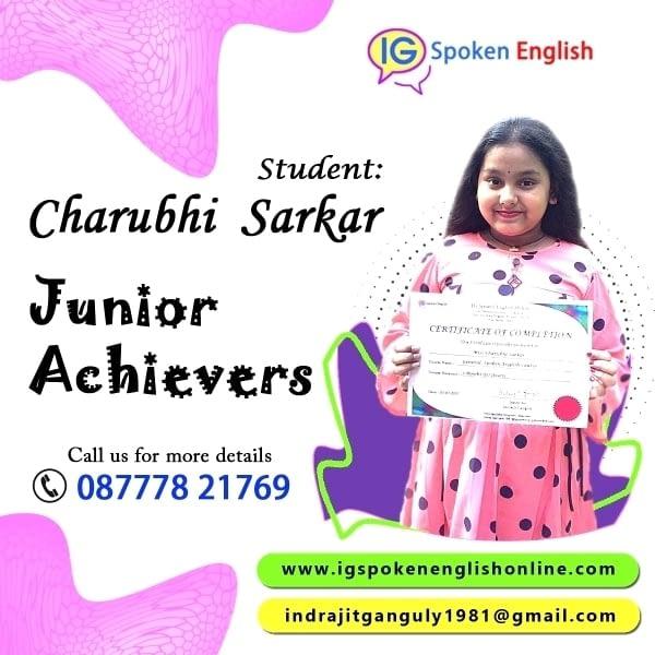 Junior Achiever Charubhi Sarkar