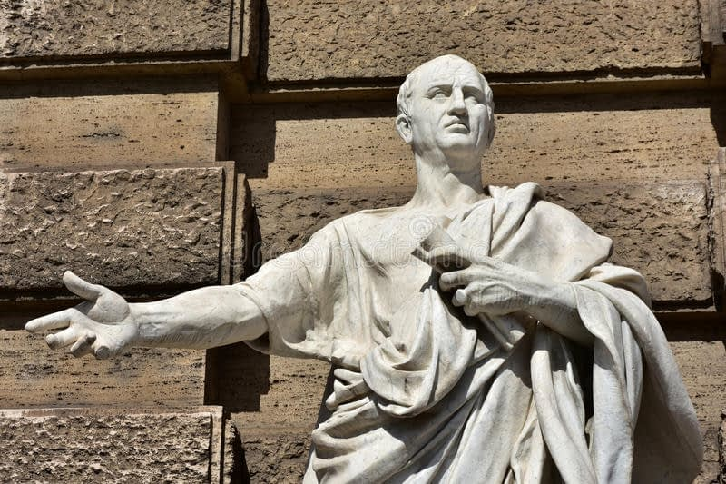 cicero greatest orator ancient rome detail marble statue front old palace justice 67836905