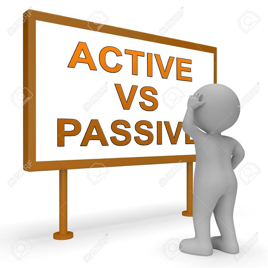 119298669 active vs passive signpost means positive energy attitude or negative laziness 3d illustration 1