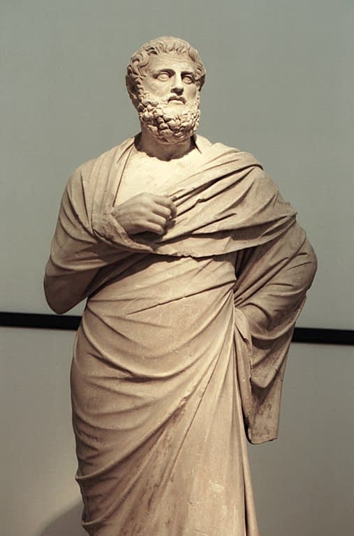 Sophocles marble statue