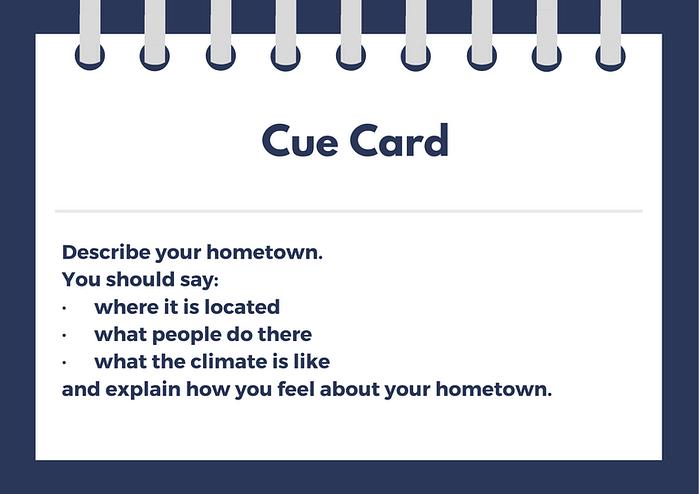 hometown cue card