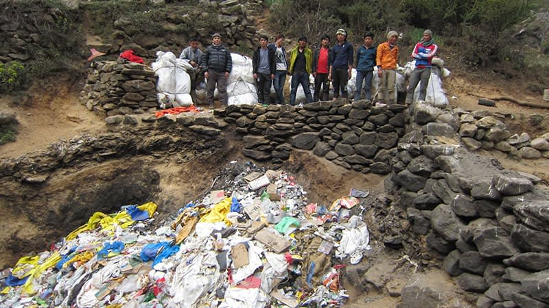 Sagarmatha Pollution Control Committee Garbage Mt Everest