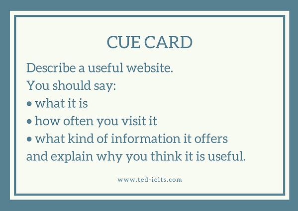 cue card